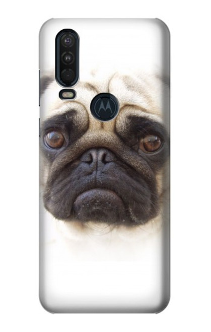 S1852 Pug Dog Case For Motorola One Action (Moto P40 Power)