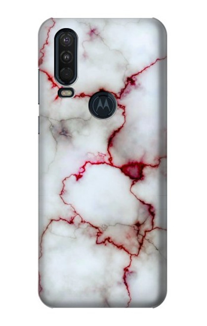 S2920 Bloody Marble Case For Motorola One Action (Moto P40 Power)