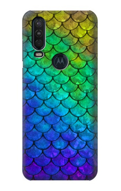 S2930 Mermaid Fish Scale Case For Motorola One Action (Moto P40 Power)