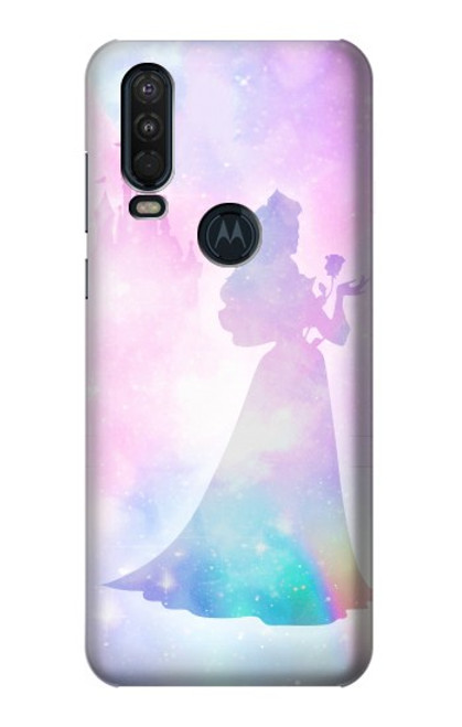 S2992 Princess Pastel Silhouette Case For Motorola One Action (Moto P40 Power)