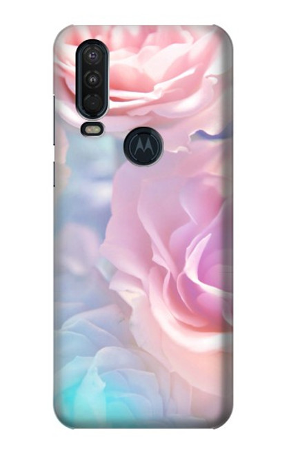 S3050 Vintage Pastel Flowers Case For Motorola One Action (Moto P40 Power)