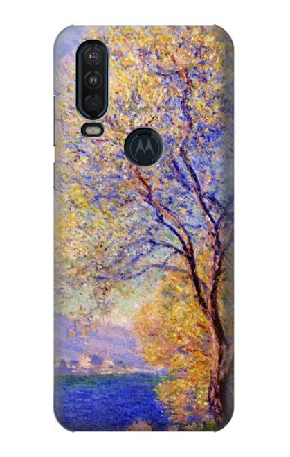 S3339 Claude Monet Antibes Seen from the Salis Gardens Case For Motorola One Action (Moto P40 Power)