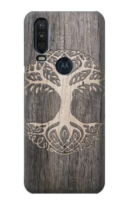 S3591 Viking Tree of Life Symbol Case For Motorola One Action (Moto P40 Power)