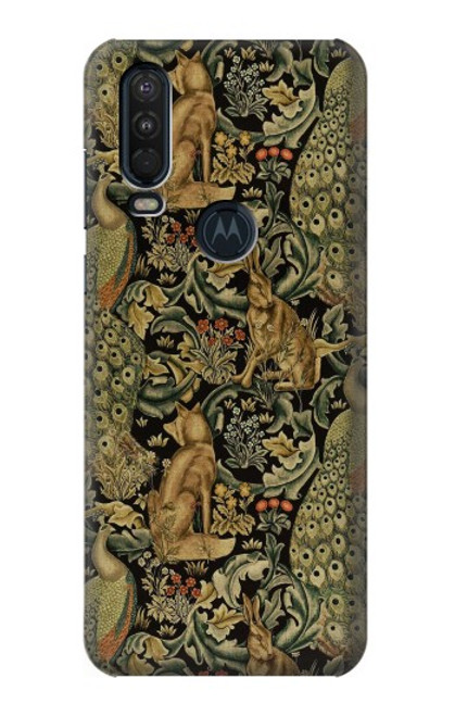 S3661 William Morris Forest Velvet Case For Motorola One Action (Moto P40 Power)