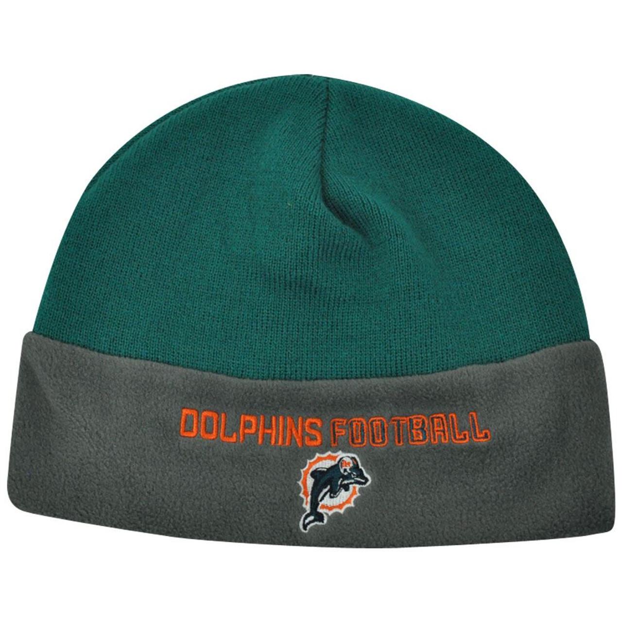 NFL Miami Dolphins Youth Team Spirit Two Tone Fleece Cuffless Beanie Winter  Knit - Sinbad Sports Store bcf673755