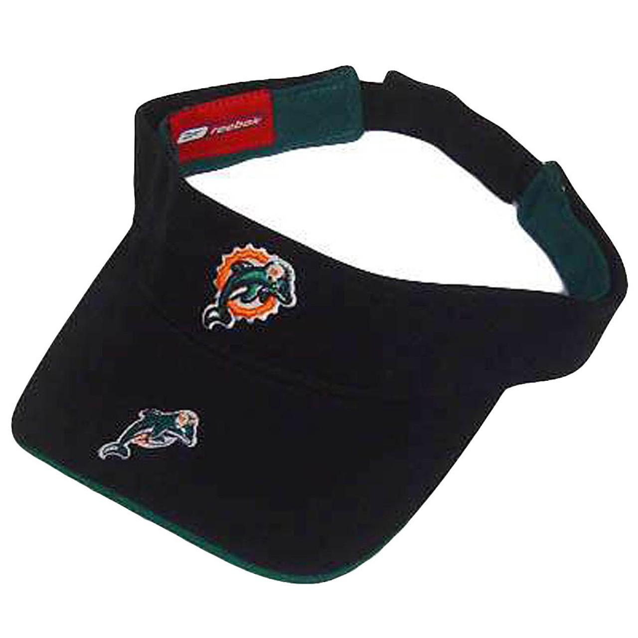 NFL MIAMI DOLPHINS REEBOK BLACK VISOR HAT CAP YOUTH KID - Sinbad ... 0153db51e
