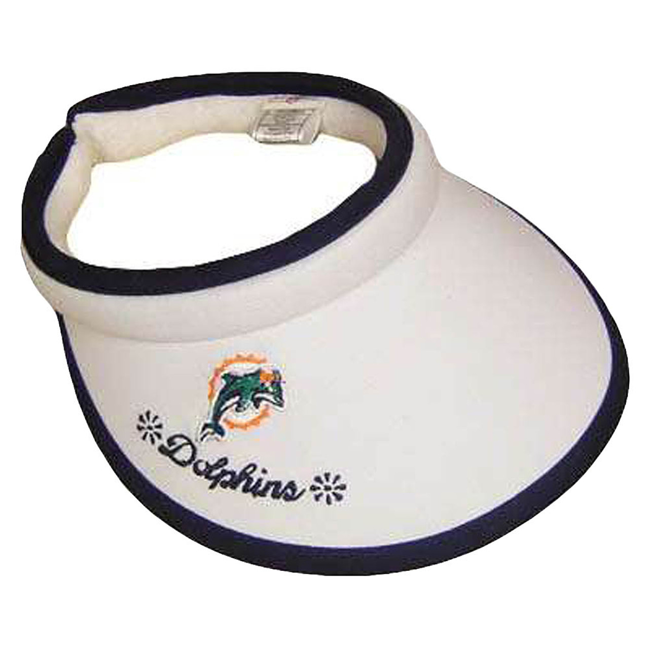 NFL Miami Dolphins Misty Women White Blue Visor Golf Tennis - Sinbad Sports  Store 1b3cc3afd