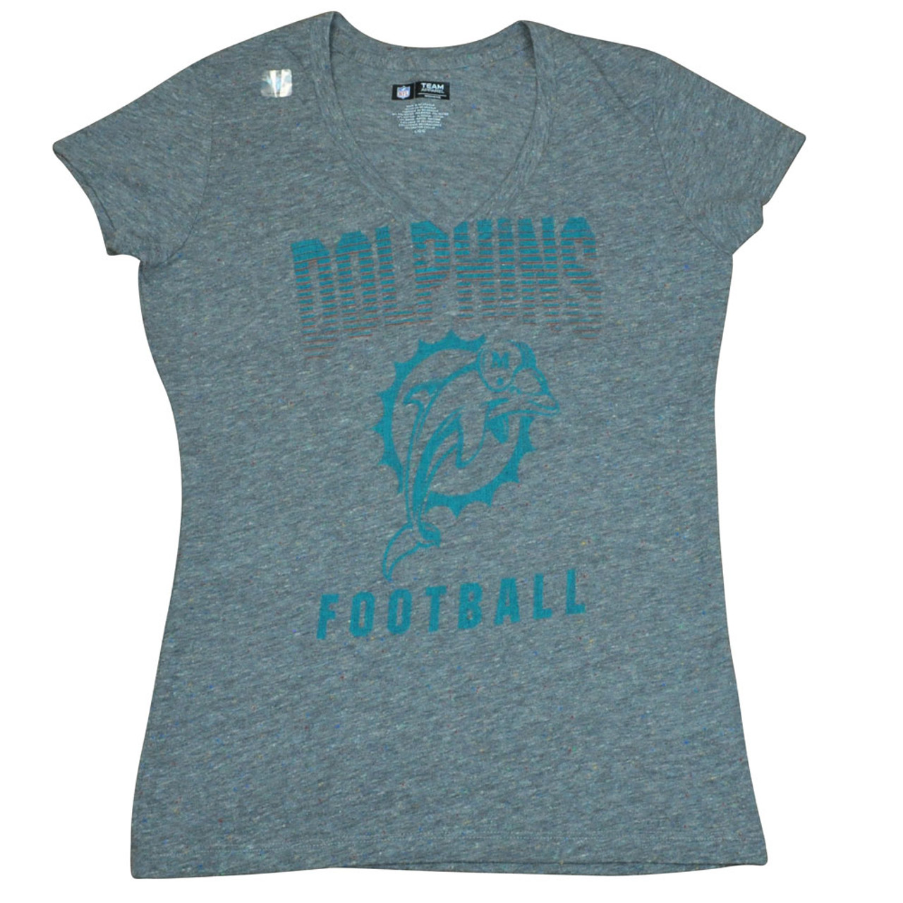 9d6db02b7 NFL Reebok Miami Dolphins Fins Women Ladies Pride Playing Tshirt DW2502  Large - Sinbad Sports Store