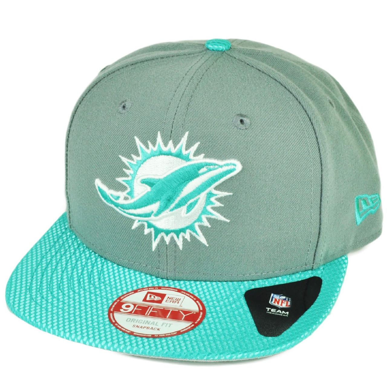 1c6f410fafe3b NFL New Era 9Fifty Flash Vize Miami Dolphins Snapback Hat Cap Flat Bill Blue