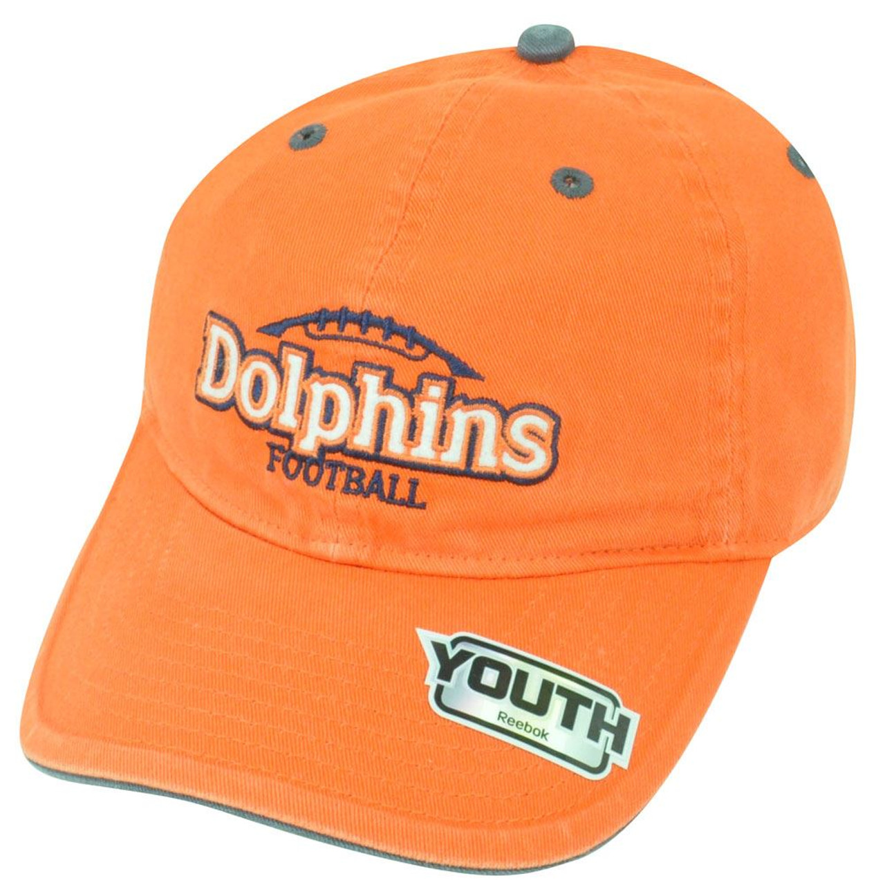 NFL Miami Dolphins Reebok Youth Adjustable Clip Buckle Orange Cap Hat  DH1447 - Sinbad Sports Store 3287b1b48