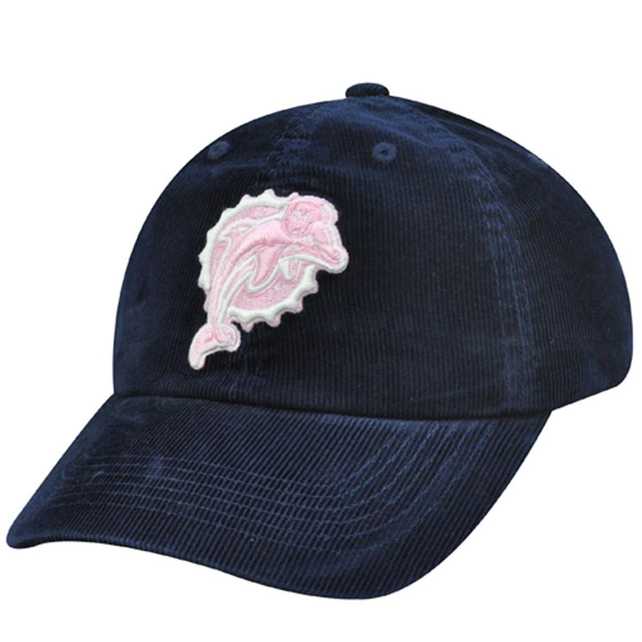 NFL Miami Dolphins Navy Blue Pink Corduroy Cotton Hat Cap Womens Ladies  Girls - Sinbad Sports Store 34ee3a7f8d