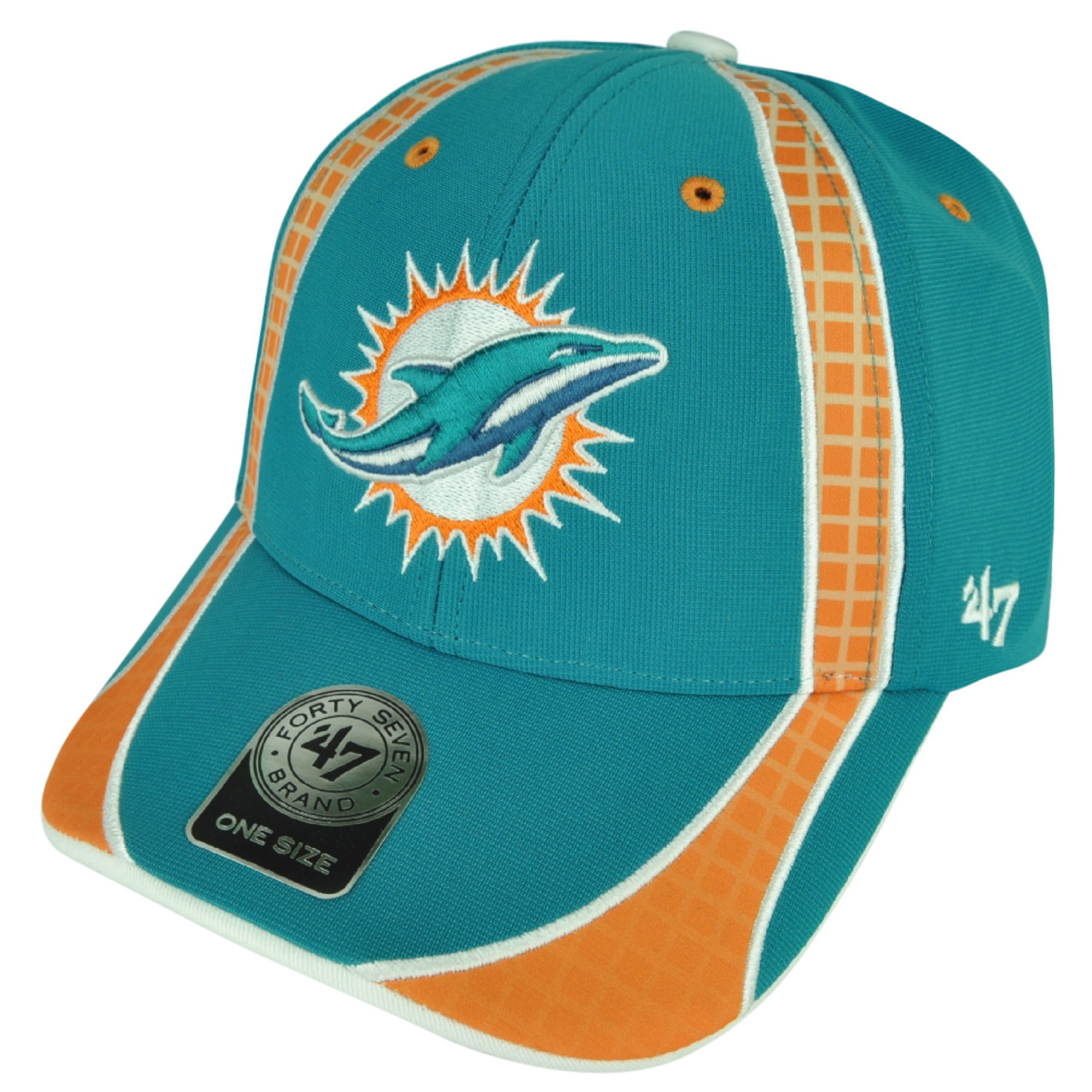 853f18e5 NFL Miami Dolphins '47 Brand Forty Seven Turquoise Hat Cap Clu Adjustable