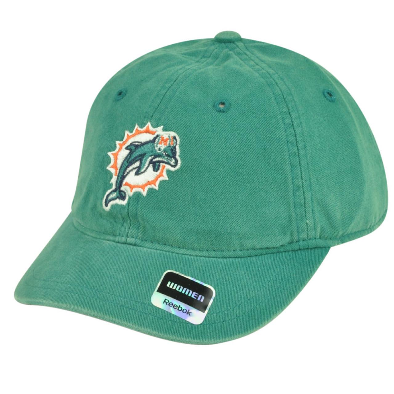 NFL Miami Dolphins Reebok Womens Garment Wash Clip Buckle Hat Cap Relaxed  Rbk - Sinbad Sports Store 45c1f7cdb8