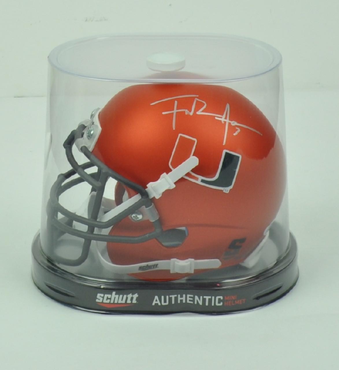 NCAA Miami Hurricanes Running Back Frank Gore 3 Signed Autographed Schutt  Orange Mini Helmet JSA - Sinbad Sports Store 5daaa894f