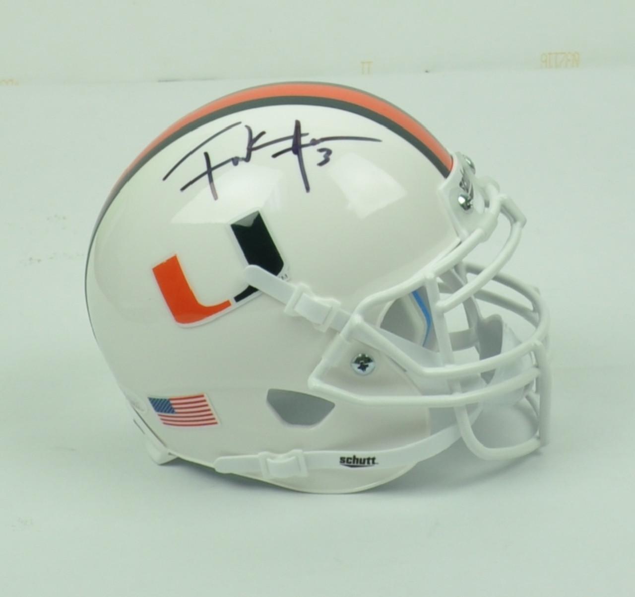 best service 5432a 07383 NCAA Miami Hurricanes Running Back Frank Gore 3 Signed Autographed Schutt  Mini Helmet JSA