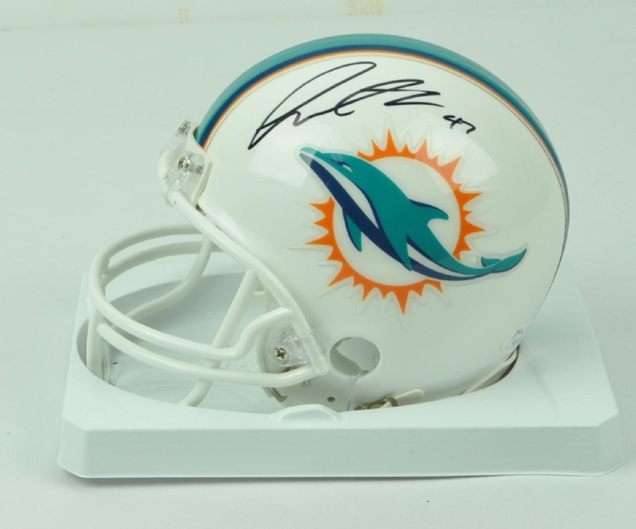 19deb828 NFL Miami Dolphins Linebacker Kiko Alonso 47 Signed Autographed Riddell  Mini Helmet JSA