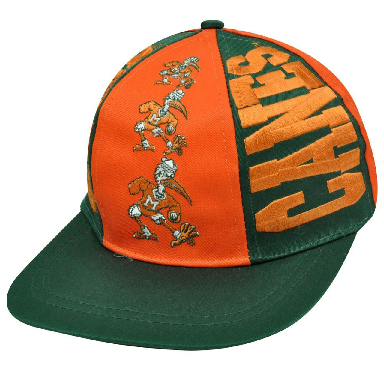 NCAA Miami Hurricanes Snapback Triple Threat Vintage Deadstock Hat Cap -  Sinbad Sports Store c0600d641c0