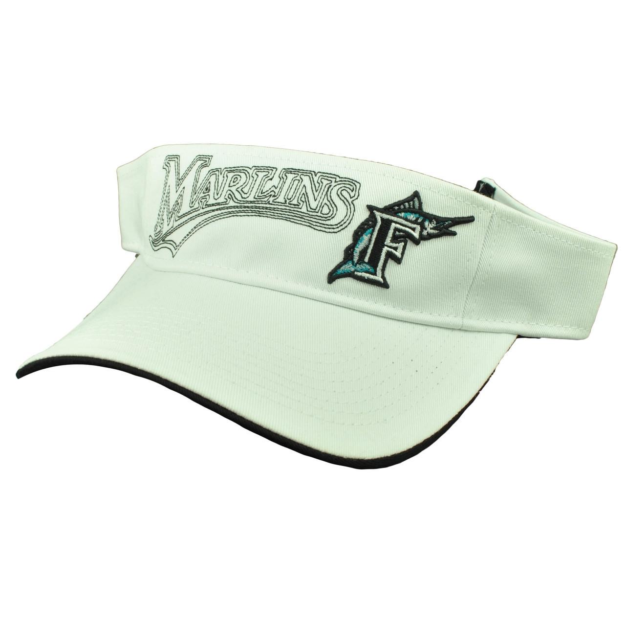 new style 24887 5e72c Florida Miami Marlins White Visor Sun Hat Baseball Old Logo Vintage  Adjustable - Sinbad Sports Store