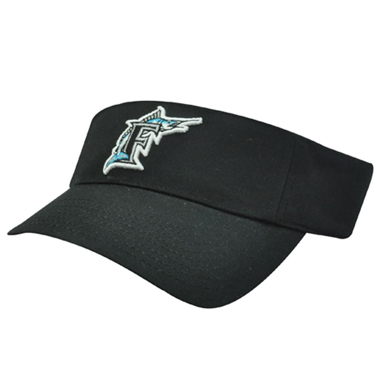 MLB Florida Marlins Miami Baseball Logo Cotton Sun Tennis Visor Hat Cap -  Sinbad Sports Store 1e228c609ae