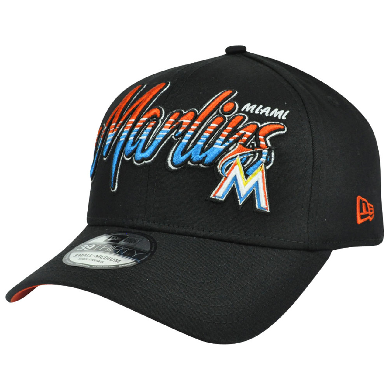 newest 3a71f 1d6eb 3930 MLB New Era 39Thirty M/L Miami Marlins Dub Tone Stretch Flex Fit Hat  Cap