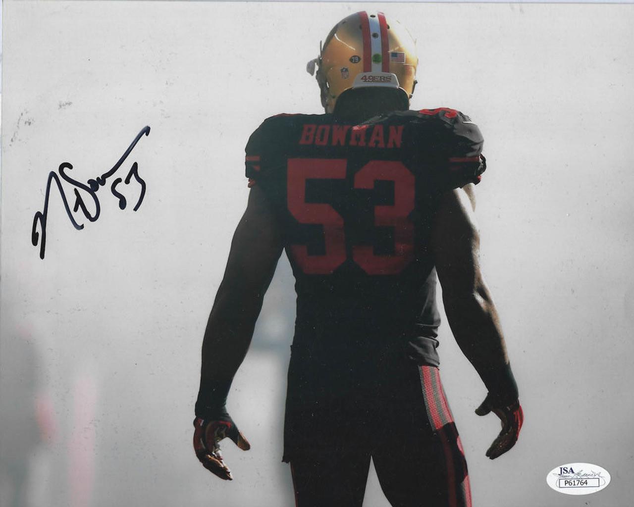 cf5f4b47 NaVarro Bowman San Francisco 49ers Autographed 8 x 10 Photo