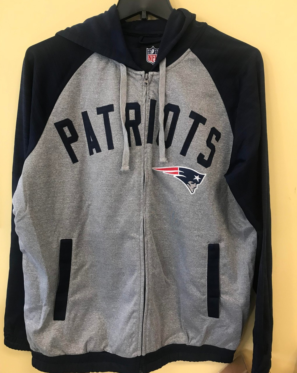 grey patriots sweatshirt