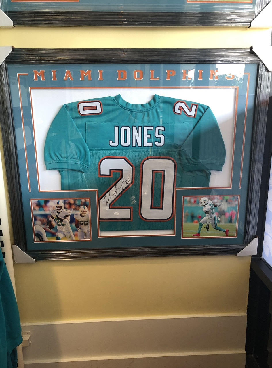 check out 1cb91 9aec8 NFL Miami Dolphins Reshad Jones Autographed Jersey Frame