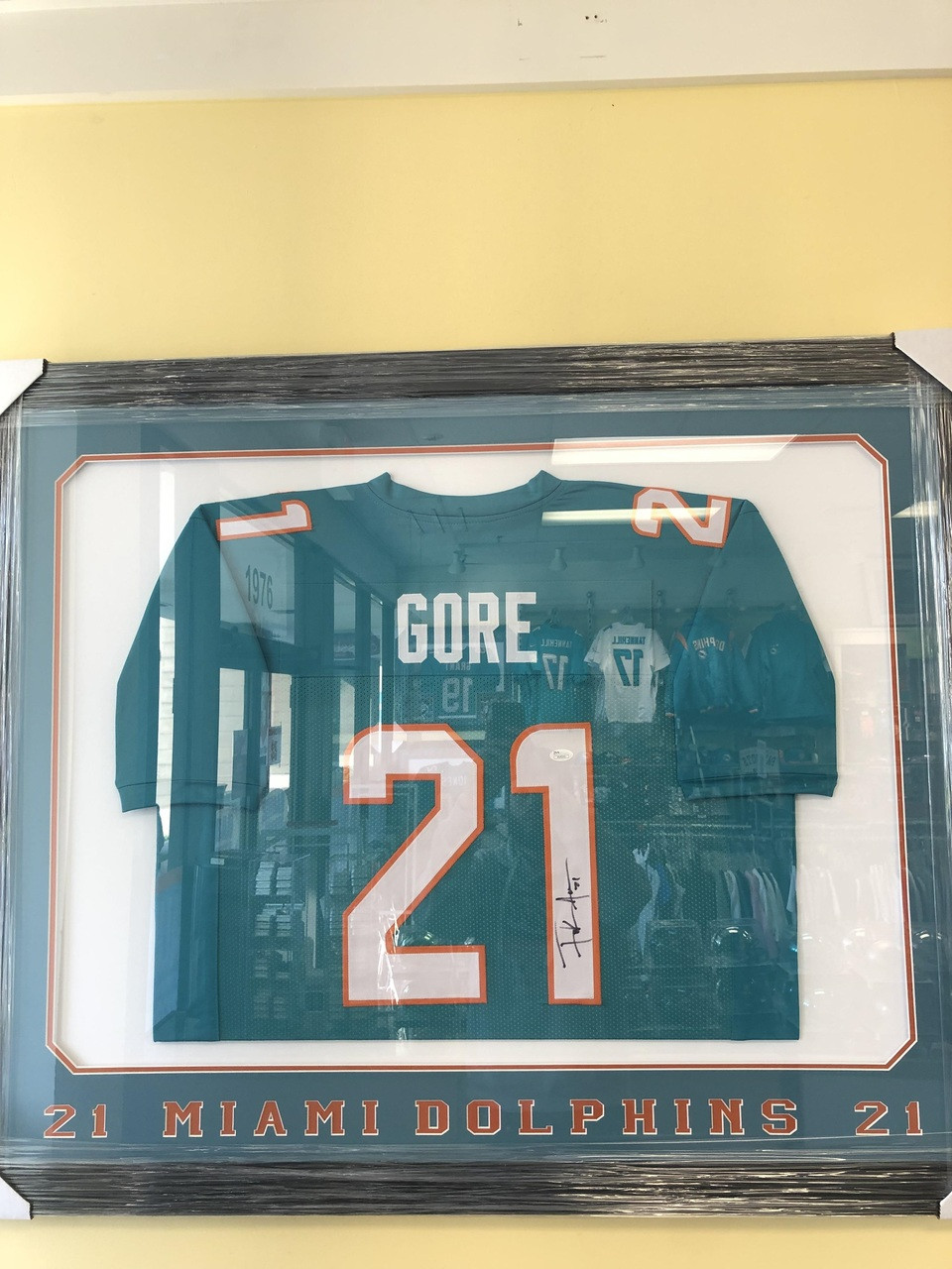 buy online 837f4 21f6b NFL Frank Gore Autographed Jersey Frame