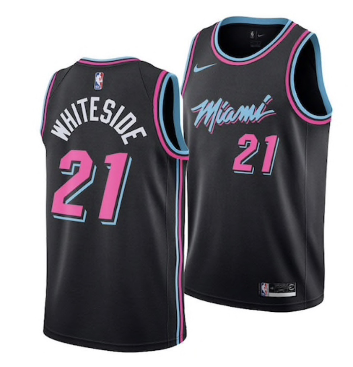 promo code 9a1f7 dead5 (XXL) NBA Miami Heat Hassan Whiteside Miami Vice Style Jersey By Nike