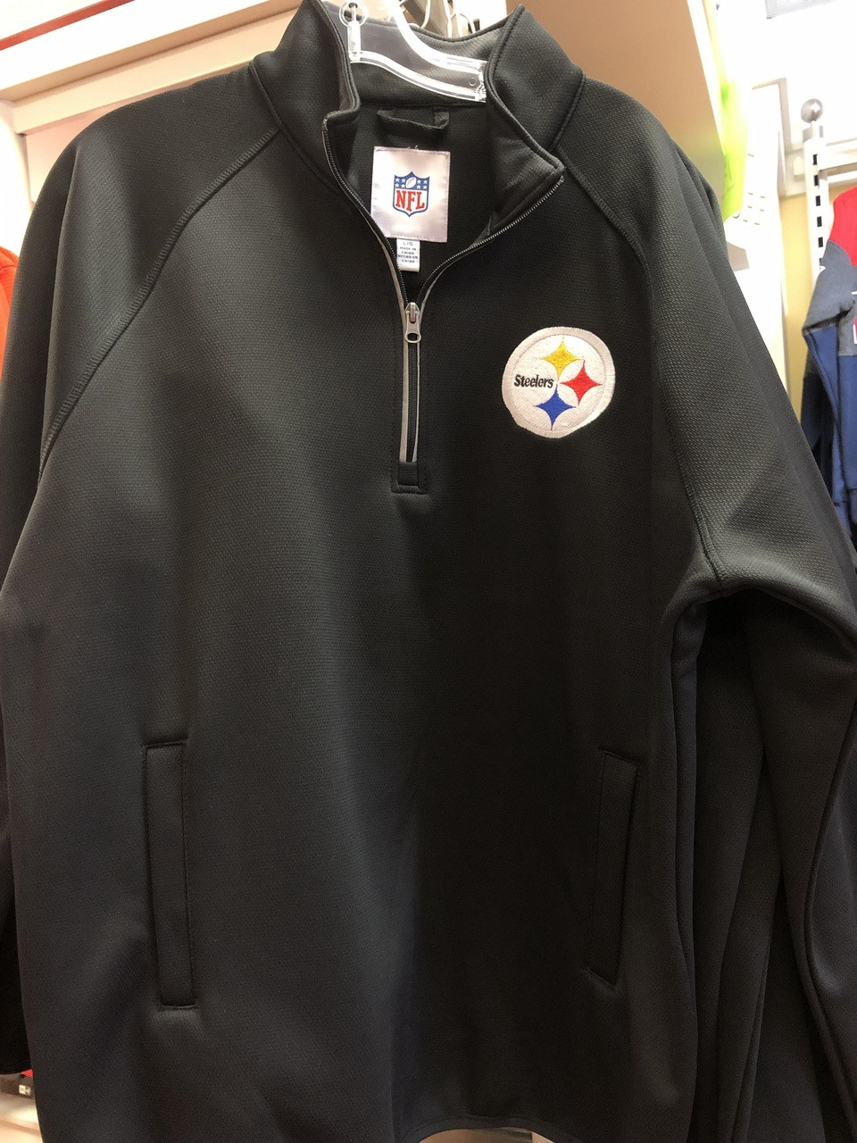 save off dfaf1 dedb5 (M) NFL Pittsburgh Steelers 1/4 Zip Jacket