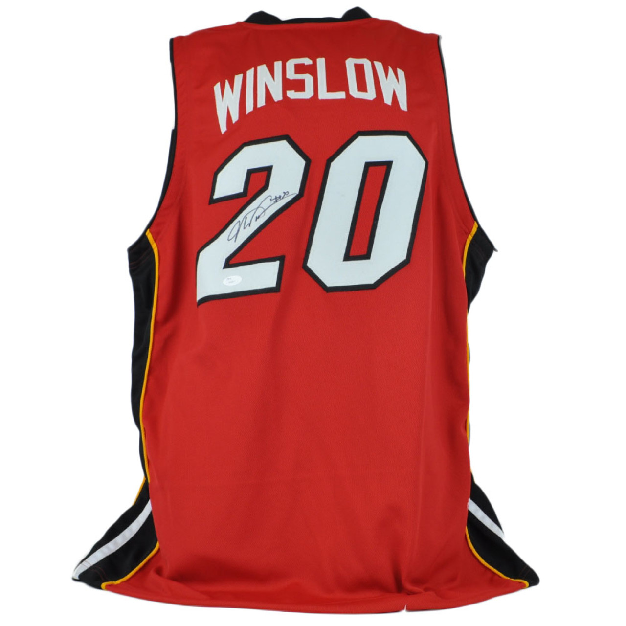 NBA Miami Heat Justise Winslow #20 Autographed Large Jersey JSA Certified Red