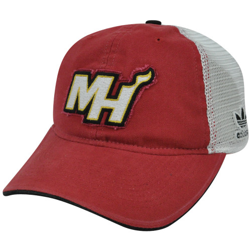 a9ef190206875 NBA Miami Heat ER20 Garment Washed Mesh Adjustable Snapback Adidas Hat