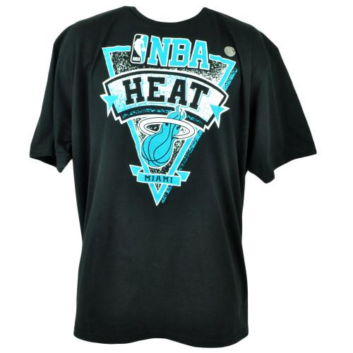 NBA Adidas Miami Heat Aqua Backboard Basketball Mens Tshirt Tee 2XLarge  Black 74685f3e6a69
