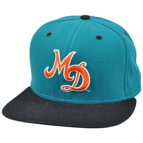 new product 28aee 6fd3c NFL Miami Dolphins Vintage Old School Flat Snapback New Era Pro Model Hat  Cap
