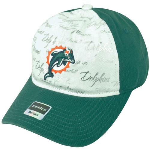 NFL Miami Dolphins Reebok Women s Clipbuckle White-Aqua Silver Cap Hat  DH1686 cd2897863