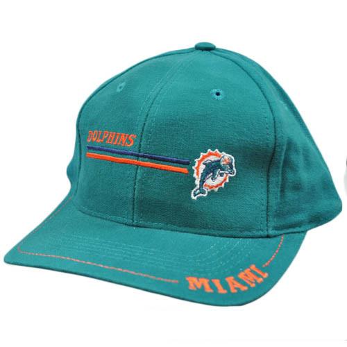 NFL Miami Dolphins Vintage Old School Flat Bill Teal Orange Logo 7 Snapback  Hat b654be1972f0