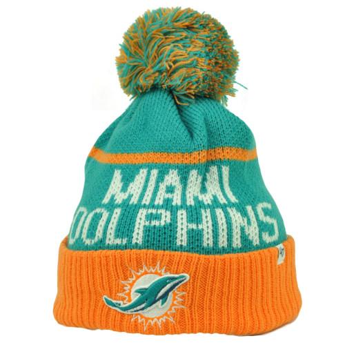 ... switzerland miami dolphins 47 brand forty seven cuffed pom pom knit  beanie linesman football 500f8 fd4a8 a1e36b742344