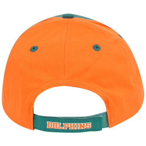 ... NFL Adjustable Velcro Curved Bill X2507 Construct Miami Dolphins Hat  Cap 2 Tone 402fb9528