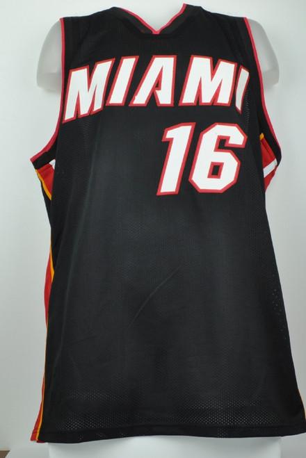 big sale 81d47 eec9f NBA Miami Heat Power Forward James Johnson 16 Signed Autographed Black  Replica Jersey XL Mens JSA