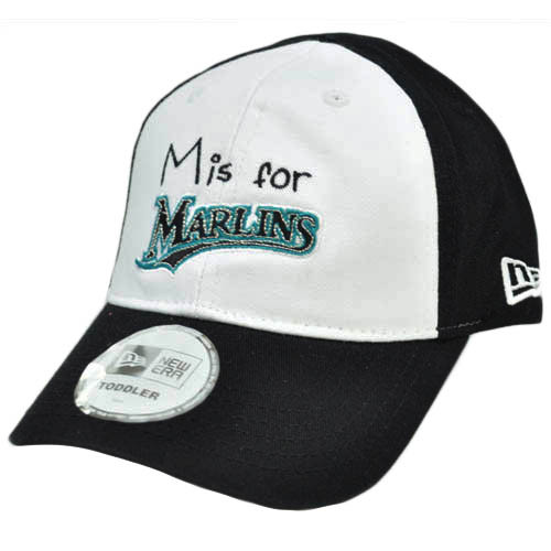 38ed50e68a8 MLB New Era Florida Marlins Toddler Youth Baseball Flex Fit Hat Cap White  Black