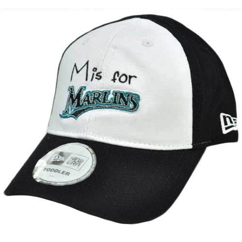 MLB New Era Florida Marlins Toddler Youth Baseball Flex Fit Hat Cap White  Black 844ba0cb3223