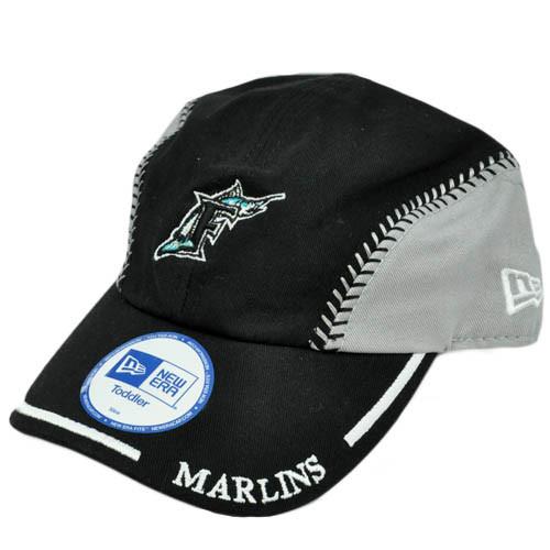 MLB Florida Marlins Baseball Youth Toddler Baby Boy Black Gray Hat ... dcea0553e916