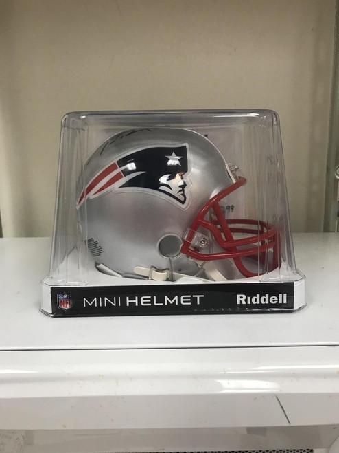 NFL Tom Brady Autographed Mini Helmet