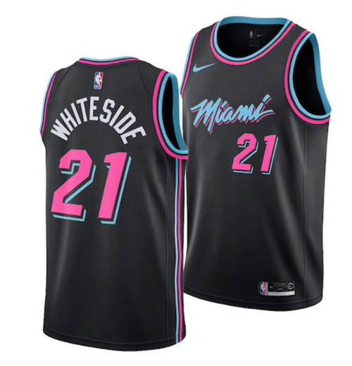 official photos bfee2 e7a4a (XL) NBA Miami Heat Hassan Whiteside Miami Vice Style Jersey By Nike