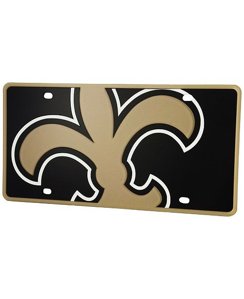 NFL New Orleans Saints License Plate Sinbad Sports Store  supplier