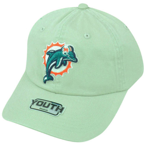 NFL Miami Dolphins Logo Reebok Youth Adjustable Clip Buckle Khaki Cap Hat  DH1541 - Sinbad Sports Store 7fff559e5