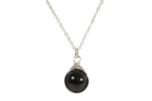 Sterling Silver Mystic Black Pearl Necklace - Available with Matching Earrings and Other Metal Choices