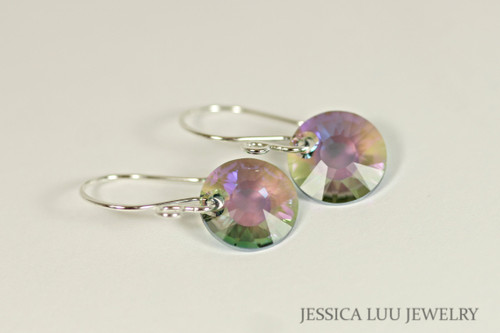 Sterling Silver Crystal Dangle Earrings - Available with Matching Necklace and Other Metal Options