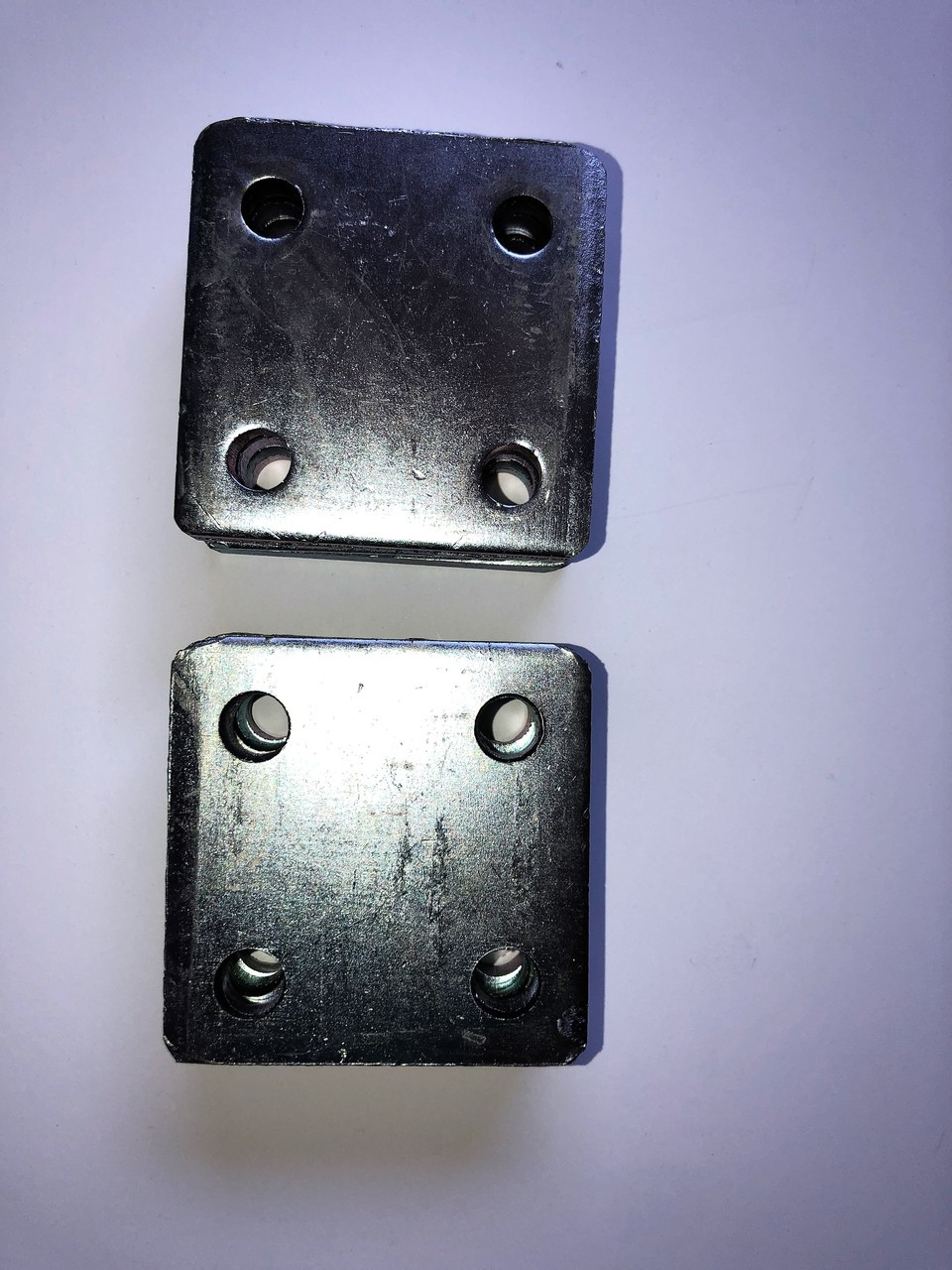 Set Of 6 3x3 Heavy Galvanized Stanchion Platesfloor Flanges For