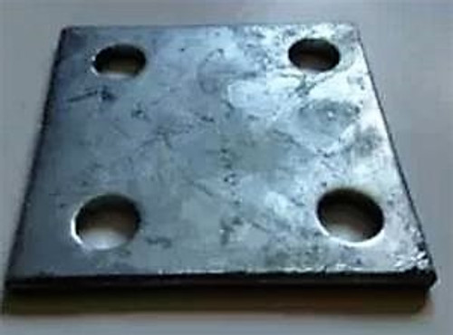 Set Of 4 6x6 Heavy Galvanized Stanchion Platesfloor Flanges For